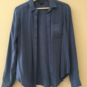 Topshop Button Down Blouse Shirt